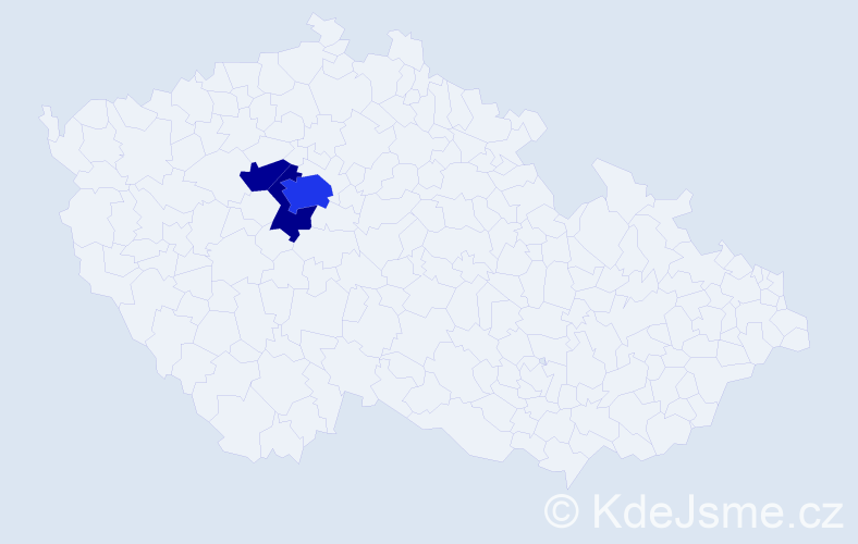 Příjmení: 'Grabmyler', počet výskytů 7 v celé ČR