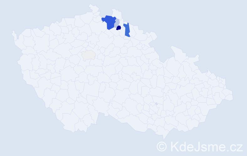 Příjmení: 'Qualizzová', počet výskytů 16 v celé ČR