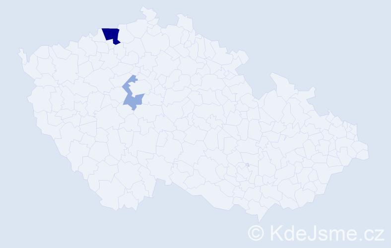 Příjmení: 'Egermeier', počet výskytů 6 v celé ČR