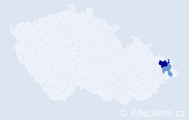 Příjmení: 'Ler', počet výskytů 10 v celé ČR