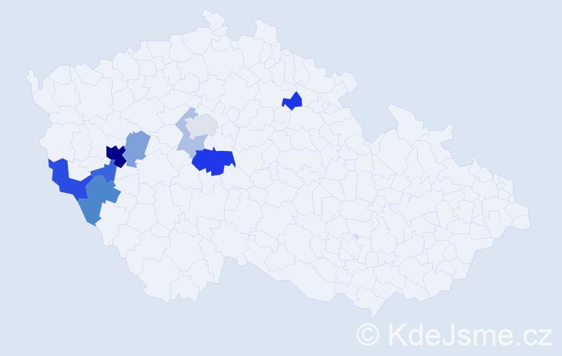 Příjmení: 'Ebenstreitová', počet výskytů 23 v celé ČR