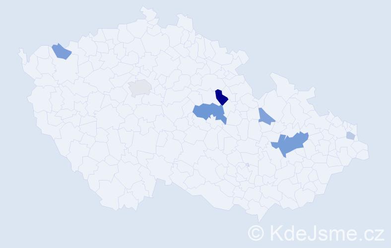 Příjmení: 'Flešková', počet výskytů 14 v celé ČR