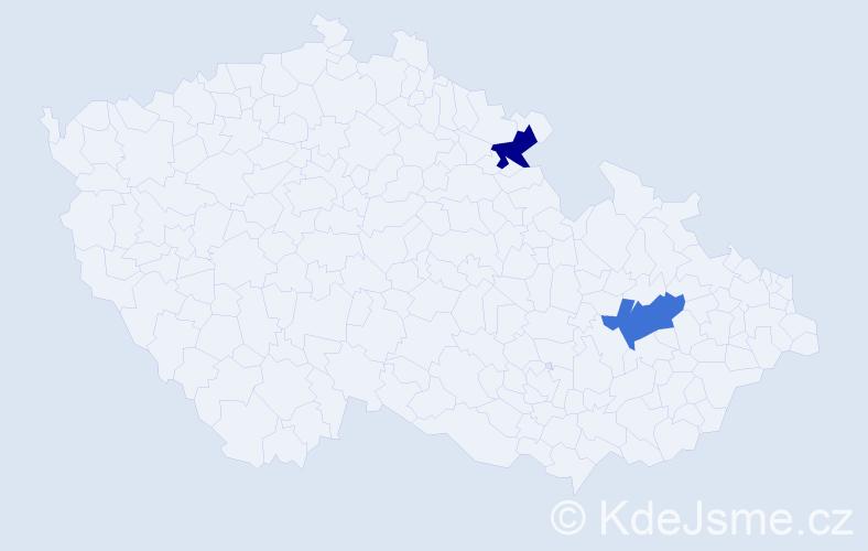 Příjmení: 'Krasucki', počet výskytů 2 v celé ČR