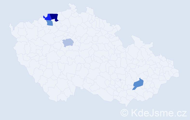 Příjmení: 'Barok', počet výskytů 9 v celé ČR