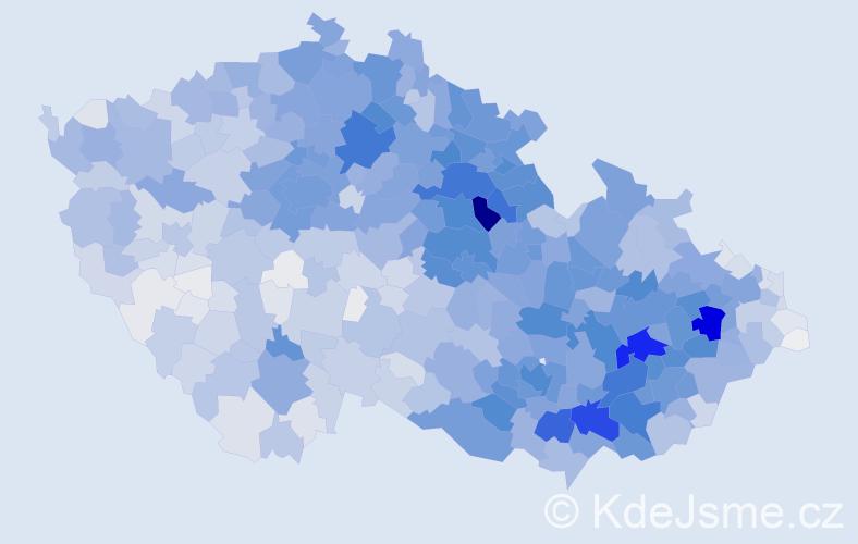 Příjmení: 'Horák', počet výskytů 12189 v celé ČR