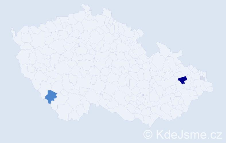Příjmení: 'Bassermann', počet výskytů 7 v celé ČR