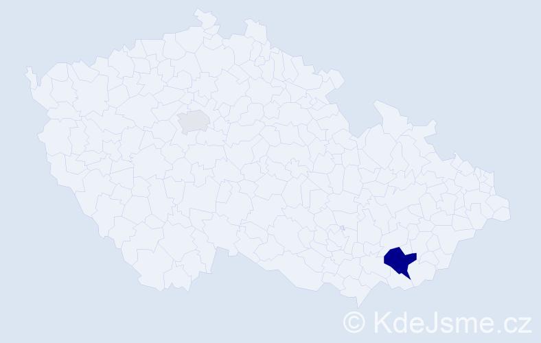 Příjmení: 'Laurence', počet výskytů 5 v celé ČR