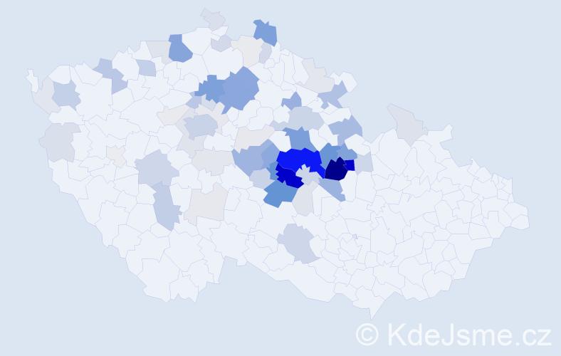 Příjmení: 'Bohuňková', počet výskytů 252 v celé ČR