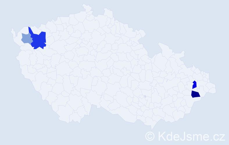 Příjmení: 'Farkavcová', počet výskytů 8 v celé ČR