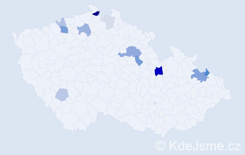 Příjmení: 'Flugrová', počet výskytů 28 v celé ČR