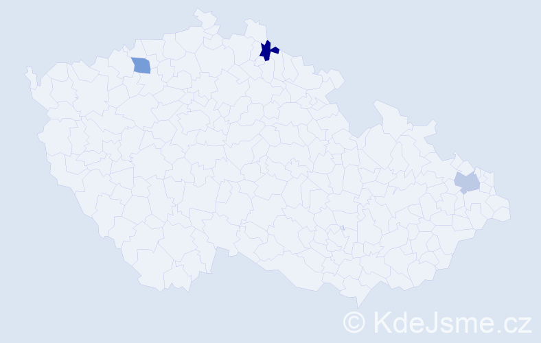 Příjmení: 'Evtimov', počet výskytů 3 v celé ČR