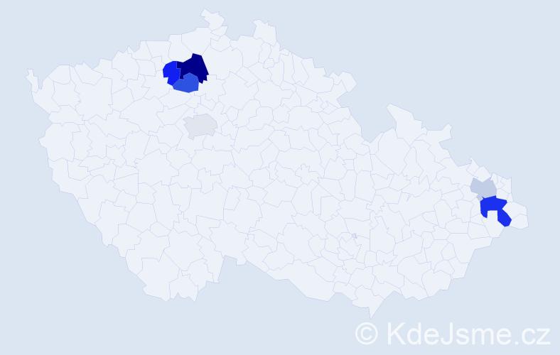 Příjmení: 'Birkášová', počet výskytů 10 v celé ČR