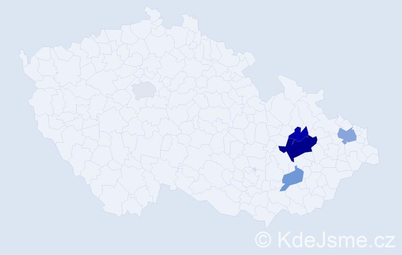 Příjmení: 'Aufartová', počet výskytů 10 v celé ČR