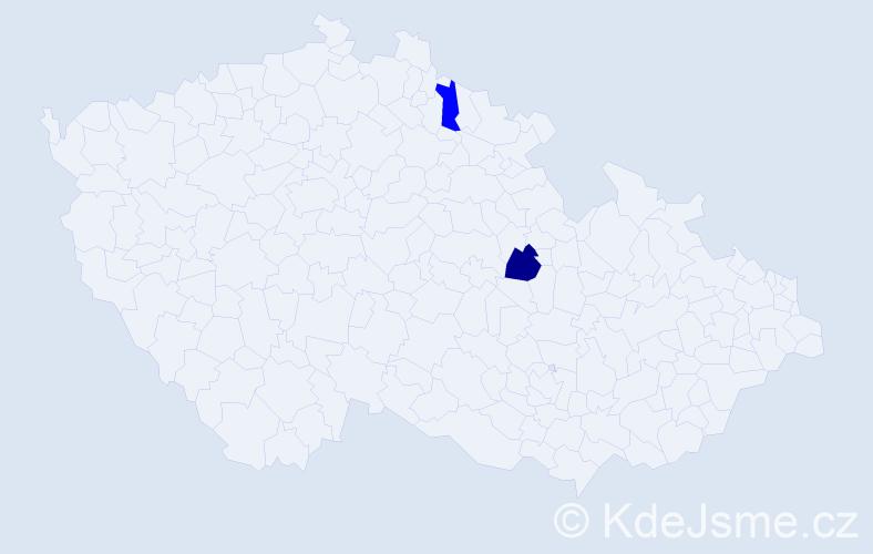 Příjmení: 'Hochbergrová', počet výskytů 5 v celé ČR