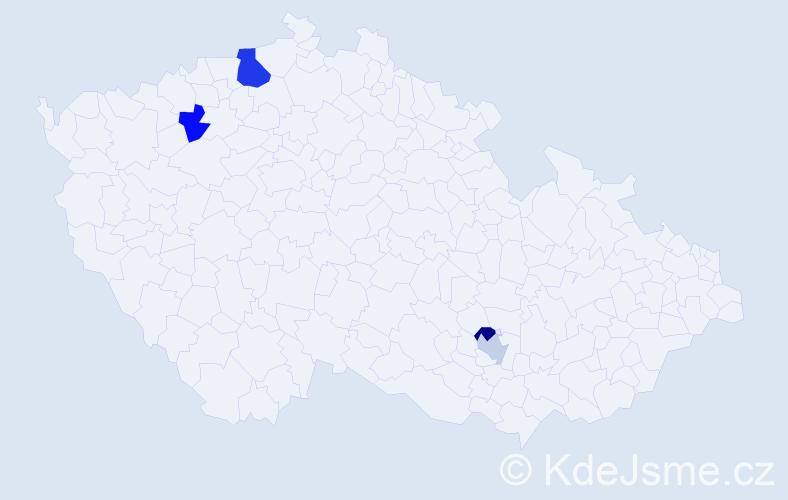 Příjmení: 'Holla', počet výskytů 6 v celé ČR