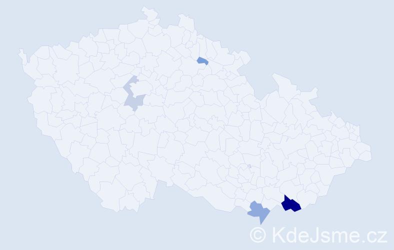 Příjmení: 'Buzík', počet výskytů 16 v celé ČR