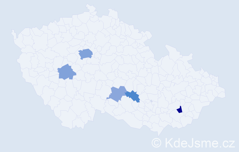 Příjmení: 'Cross', počet výskytů 15 v celé ČR