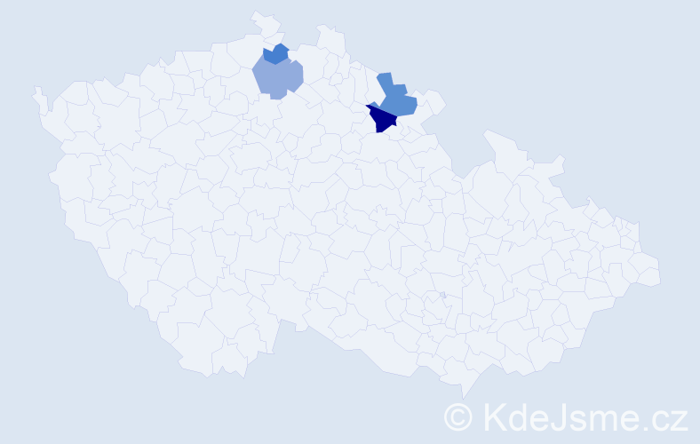 Příjmení: 'Androvics', počet výskytů 6 v celé ČR