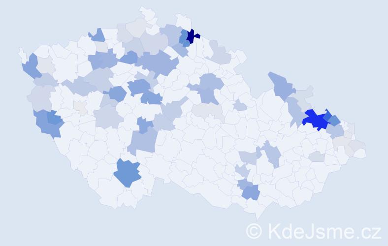 Příjmení: 'Herrmann', počet výskytů 262 v celé ČR