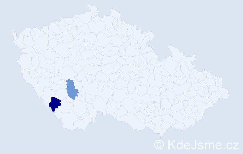 Příjmení: 'Kršňak', počet výskytů 2 v celé ČR