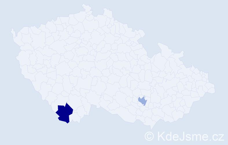 Příjmení: 'Grubmüller', počet výskytů 2 v celé ČR