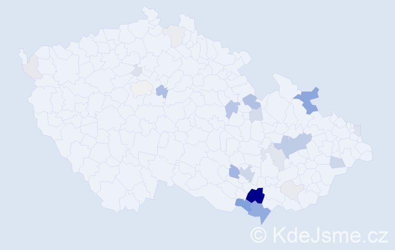 Příjmení: 'Grůzová', počet výskytů 93 v celé ČR