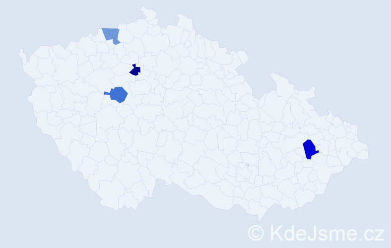 Příjmení: 'Ileková', počet výskytů 4 v celé ČR