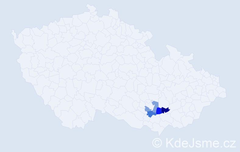 Příjmení: 'Cecálková', počet výskytů 4 v celé ČR