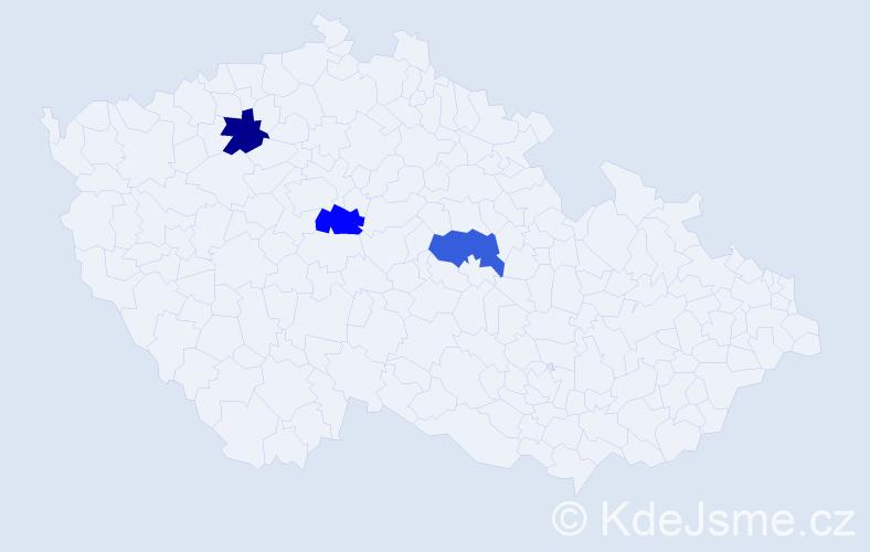 Příjmení: 'Ernigrová', počet výskytů 3 v celé ČR
