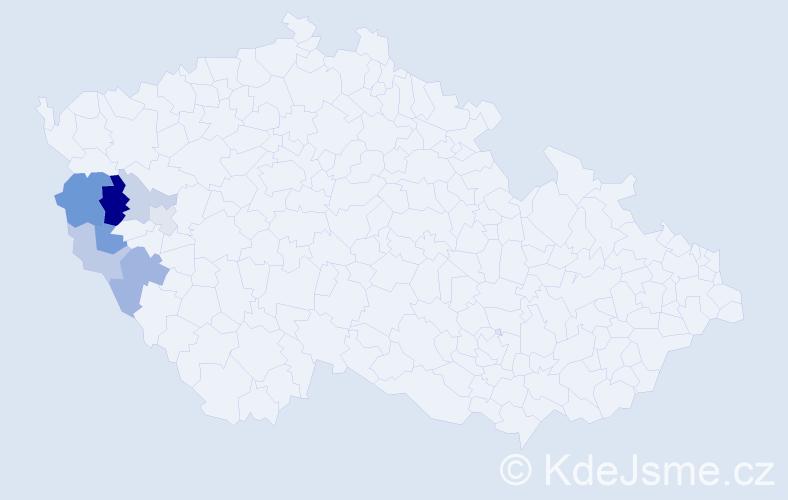 Příjmení: 'Čepičan', počet výskytů 13 v celé ČR