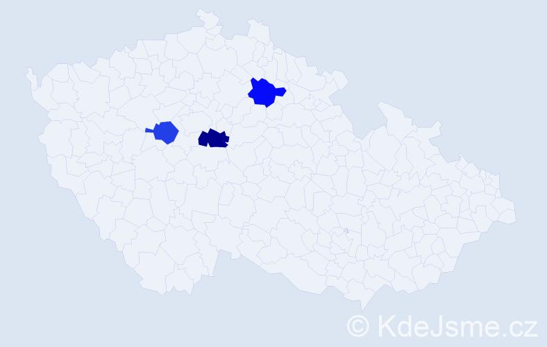 Příjmení: 'Krubr', počet výskytů 7 v celé ČR