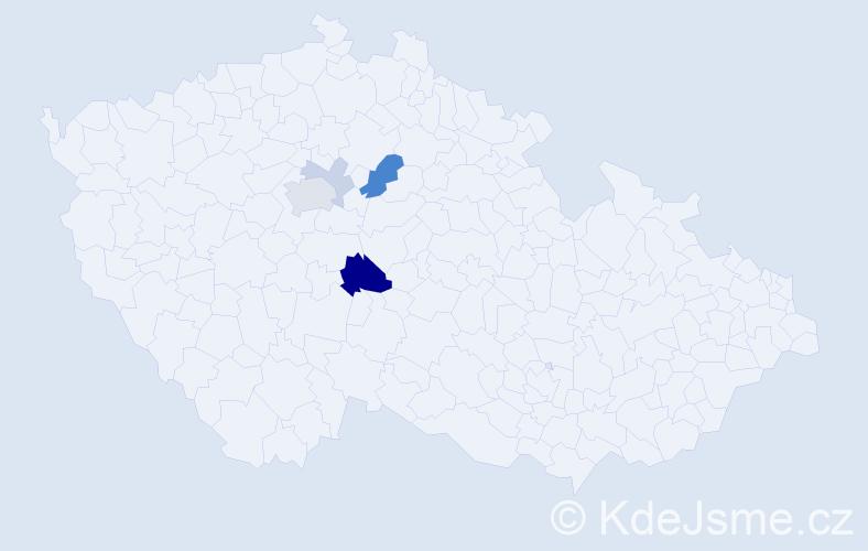 Příjmení: 'Karabello', počet výskytů 12 v celé ČR