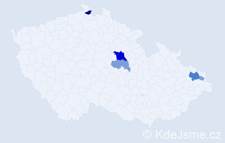 Příjmení: 'Ďurovcová', počet výskytů 12 v celé ČR