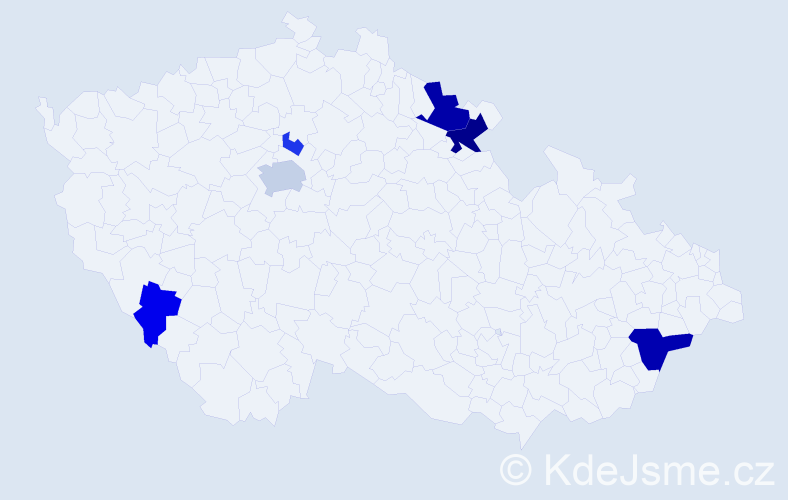 Příjmení: 'Ildža', počet výskytů 14 v celé ČR