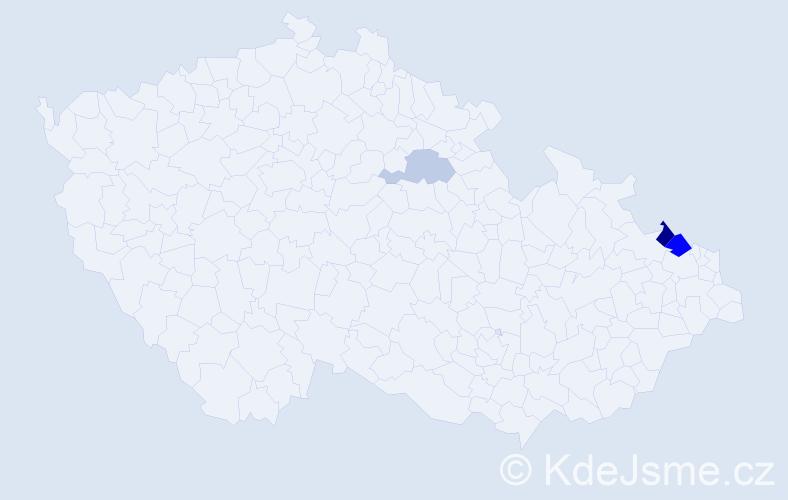 Příjmení: 'Gubovová', počet výskytů 6 v celé ČR