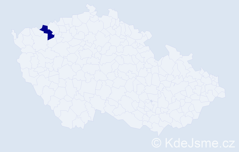 Příjmení: 'Bártkovská', počet výskytů 1 v celé ČR