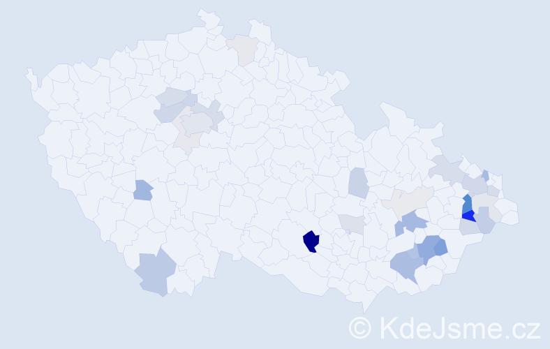 Příjmení: 'Kryšková', počet výskytů 81 v celé ČR