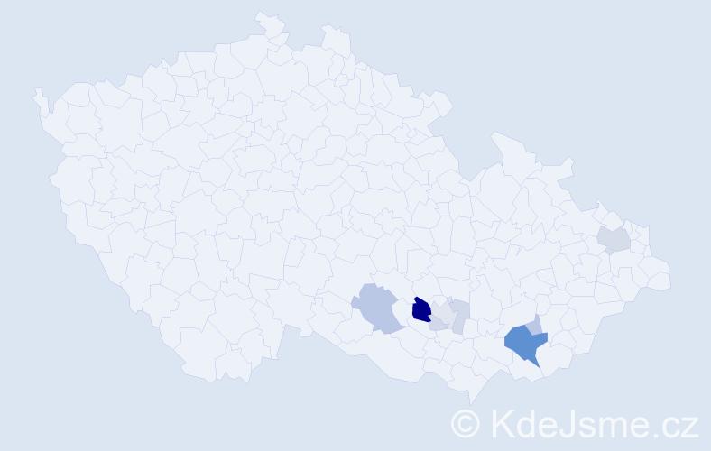 Příjmení: 'Brim', počet výskytů 23 v celé ČR