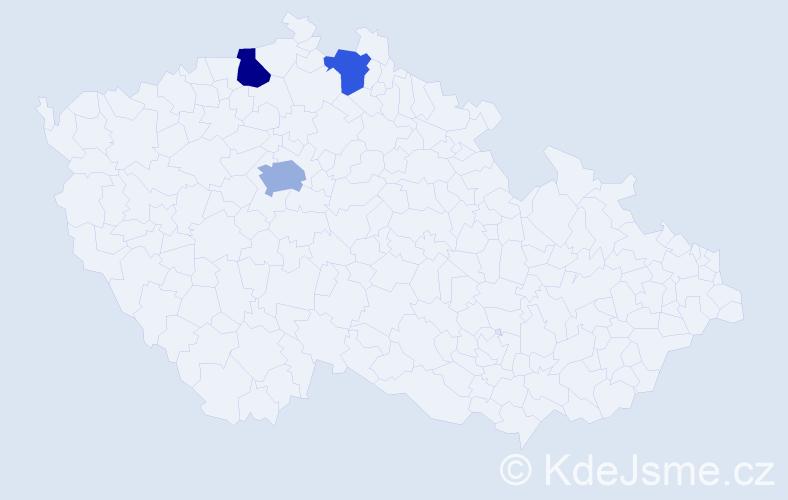 Příjmení: 'Dahmani', počet výskytů 9 v celé ČR