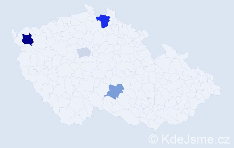 Příjmení: 'Kindratová', počet výskytů 9 v celé ČR