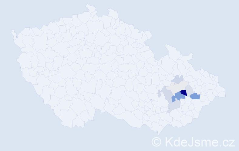 Příjmení: 'Bija', počet výskytů 35 v celé ČR