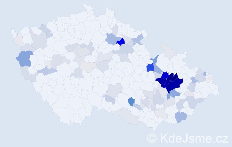 Příjmení: 'Kráčmar', počet výskytů 362 v celé ČR