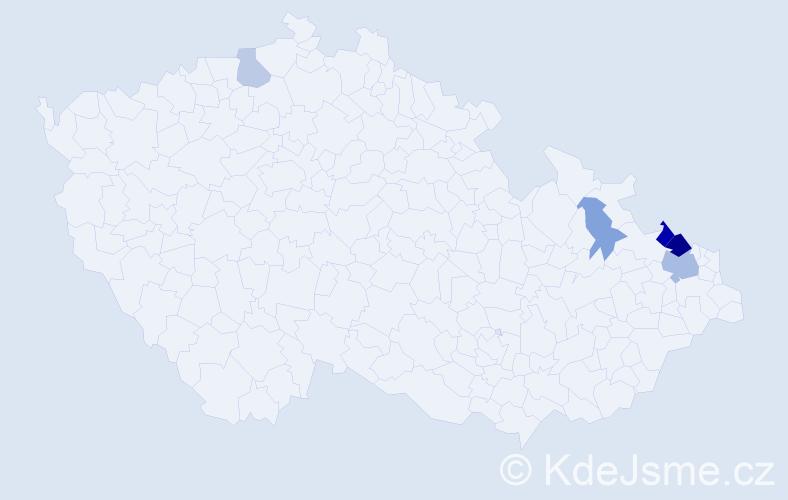 Příjmení: 'Bartussková', počet výskytů 11 v celé ČR