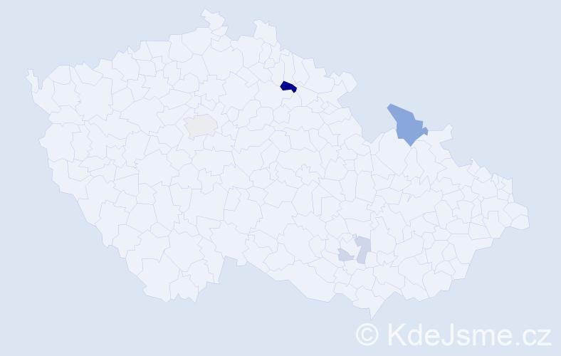 Příjmení: 'Atkinson', počet výskytů 8 v celé ČR