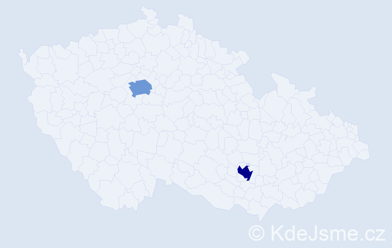 Příjmení: 'Jukelsonová', počet výskytů 2 v celé ČR
