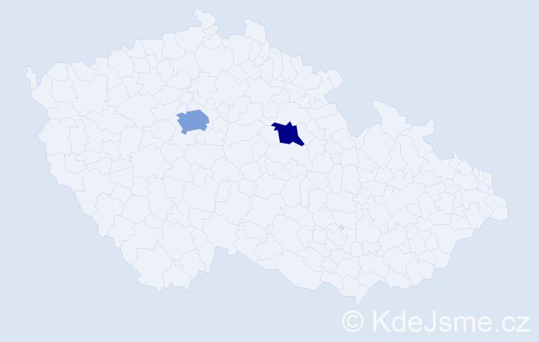Příjmení: 'Kokoshka', počet výskytů 3 v celé ČR