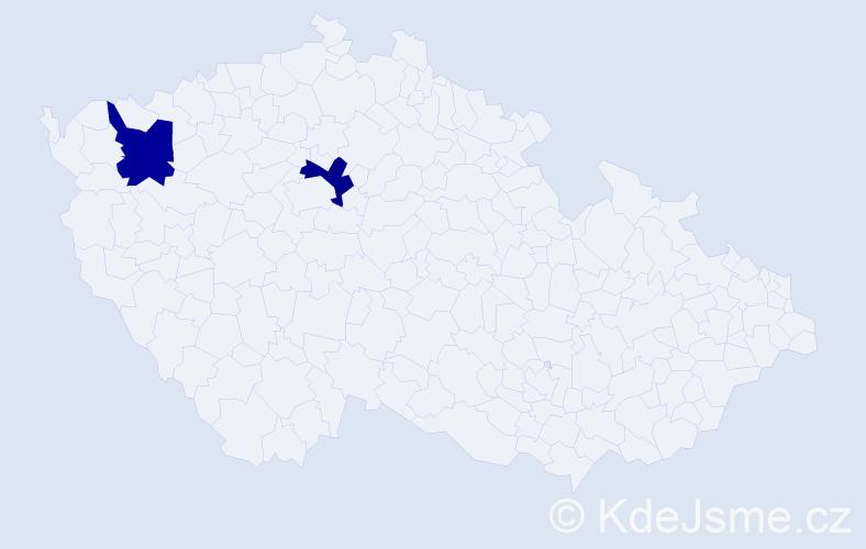 Příjmení: 'Hrudkajová', počet výskytů 4 v celé ČR