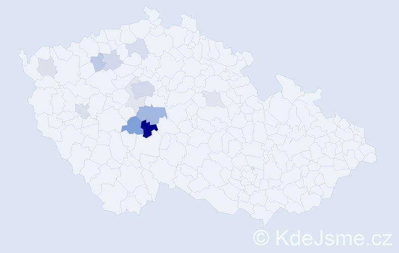 Příjmení: 'Fremutová', počet výskytů 31 v celé ČR