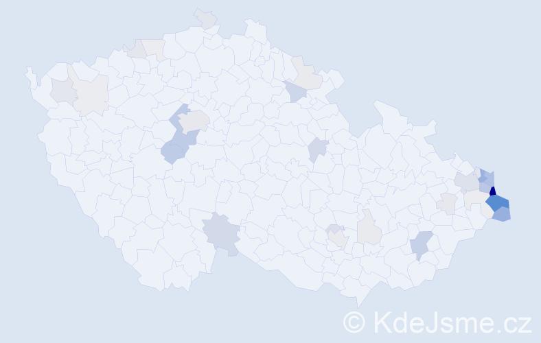 Příjmení: 'Branná', počet výskytů 142 v celé ČR
