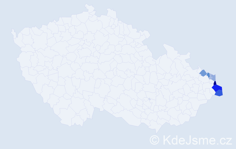 Příjmení: 'Górniak', počet výskytů 19 v celé ČR